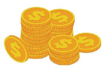 una coins saving money icon
