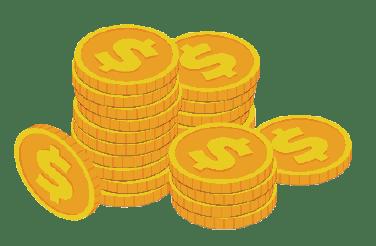 una coins saving money icon