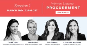 session 1 women shaping procurement