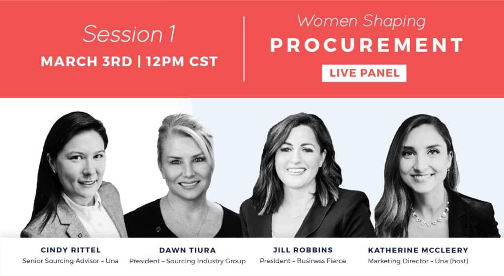women shaping procurement panel 1