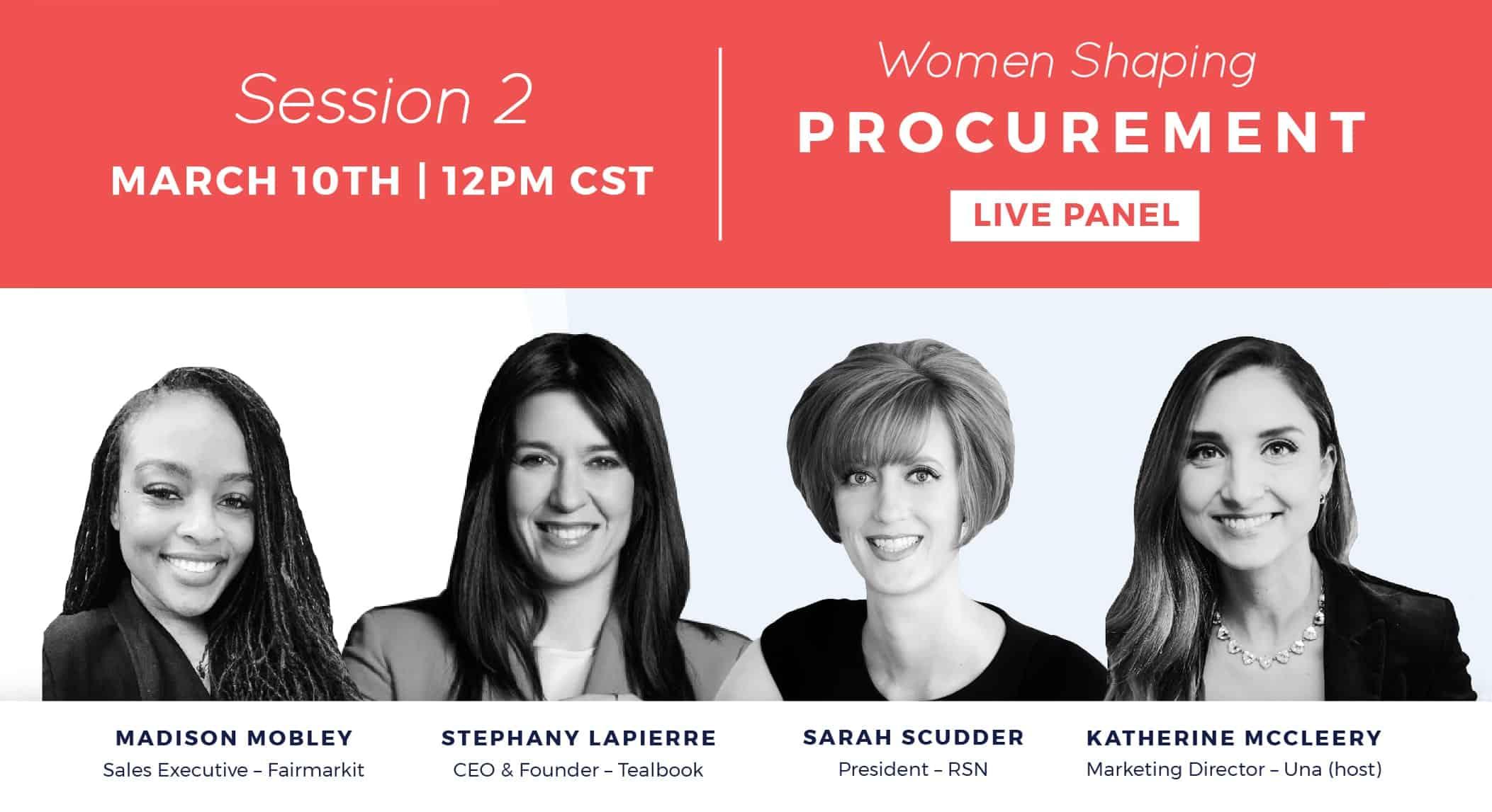Ep 19: Women Shaping Procurement Live Panel Session #2